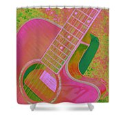 My Pink Guitar Pop Art Shower Curtain