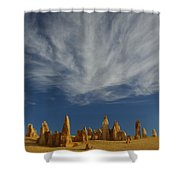The Pinnacles 2am-111015 Shower Curtain