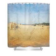 The Pinnacles In Western Australia Shower Curtain