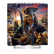 The Pirate Shower Curtain by Adrian Chesterman