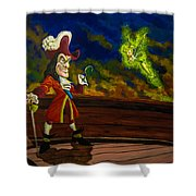 The Pirate And The Fairy Shower Curtain