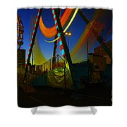The Pirate Ship And Big Wheel  Shower Curtain