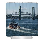 The Piscataqua River Shower Curtain
