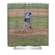 The Pitcher Digital Art Shower Curtain