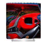 The Pitts S2-b Biplane - Will Allen Airshows Shower Curtain
