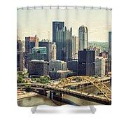 The Pittsburgh Skyline Shower Curtain