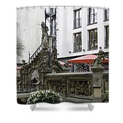The Pixie Fountain Cologne Germany Shower Curtain