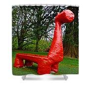 The Playful Dinosaur  Shower Curtain