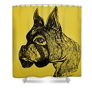 The Playful Guardian Shower Curtain