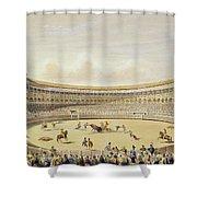 The Plaza De Toros Of Madrid, 1865 Shower Curtain