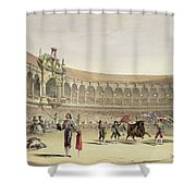 The Plaza Of Seville, 1865 Shower Curtain