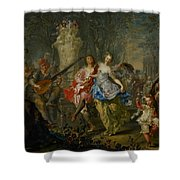 The Pleasures Of The Seasons     Spring Shower Curtain by Johann Georg Platzer
