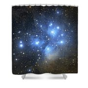 The Pleiades Open Star Cluster Shower Curtain