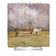 The Plough Team Shower Curtain