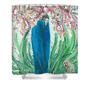 The Poet And The Dog Shower Curtain