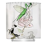 The Poets Corner Shower Curtain by Sem
