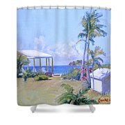 The Point Morning Light Shower Curtain