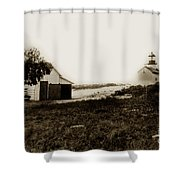 The Point Pinos Lighthouse Pacific Grove California Circa 1895 Shower Curtain
