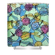 The Pond - An Aerial View Shower Curtain