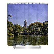 The Pond - Central Park Shower Curtain