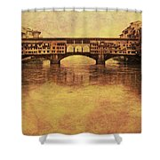 The Ponte Vecchio In Florence Italy Shower Curtain