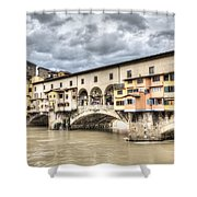 The Ponte Vecchio In Florence Shower Curtain