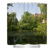 The Pool Central Park Shower Curtain