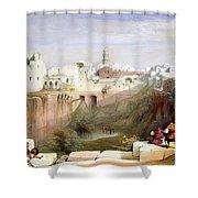 The Pool  Of Bethesda Jerusalem Shower Curtain
