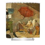 The Poor Poet II Shower Curtain