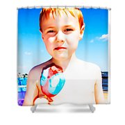 The Popsicle Shower Curtain by Edward Fielding