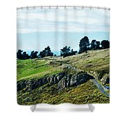 The Port Hills Shower Curtain