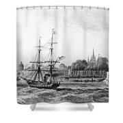 The Port Of New Orleans Shower Curtain