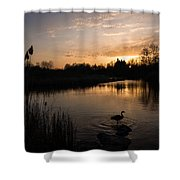 The Posing Goose Shower Curtain
