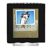 The Post Card Home Shower Curtain