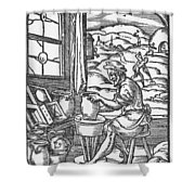 The Potter, 1574 Shower Curtain