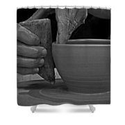 The Potter's Hands Shower Curtain