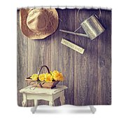 The Potting Shed Shower Curtain