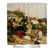 The Poultry Market Shower Curtain