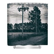 The Power Lines  Shower Curtain