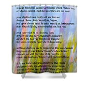 The Power Of Love Vignette Shower Curtain