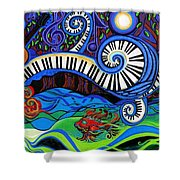 The Power Of Music Shower Curtain