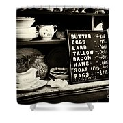 The Price List Shower Curtain by Paul W Faust -  Impressions of Light
