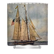 The Pride Of Baltimore II Shower Curtain