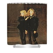 The Princes Edward And Richard Shower Curtain by Sir John Everett Millais