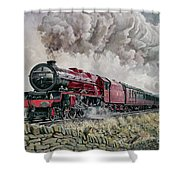 The Princess Elizabeth Storms North In All Weathers Shower Curtain