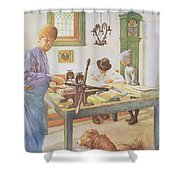The Print Room, Pub. In Lasst Licht Shower Curtain