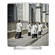 The Procession Nola - Color Shower Curtain