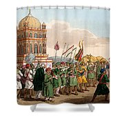 The Procession Of The Taziya, From The Shower Curtain