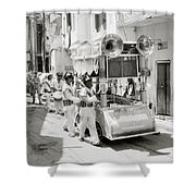 The Procession Shower Curtain