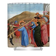 The Procession To Calvary Shower Curtain